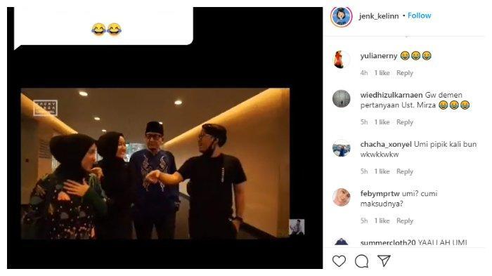 Video Ayus panggil Nissa Sabyan dengan sebutan Umi di hadapan Ustaz Zacky Mirza.