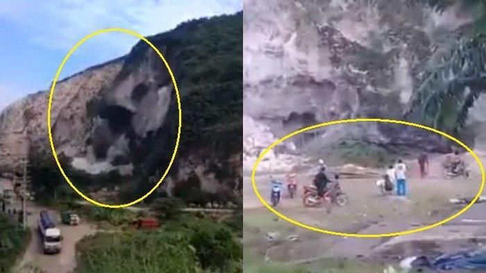 Video Detik-detik Gunung Kapur Setinggi 50 Meter Longsor di Jember, Terekam Korban Tepat di Bawahnya