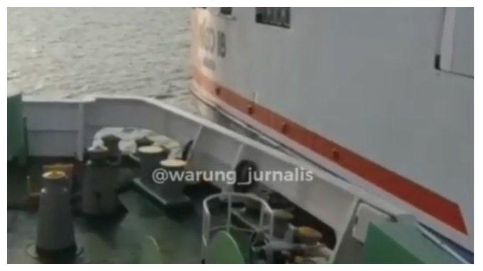 Video Detik-detik Tabrakan Dua Kapal Besar di Selat Sunda, Dentuman Keras Terdengar dan 1 ABK Hilang