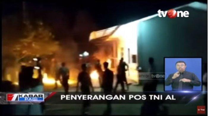 Video Detik-detik Warga Bakar dan Serang Pos TNI AL di Lhokseumawe, Dipicu Seorang Anak Naik Tower
