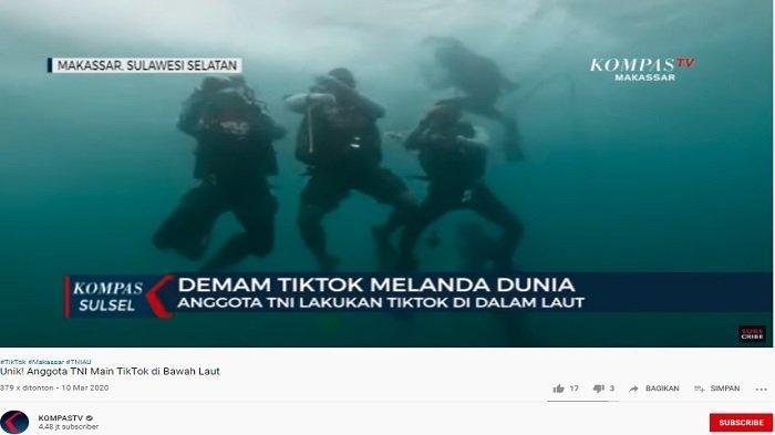 Setelah Menanam Terumbu Karang, Anggota TNI AL Lakukan Aksi Joget TikTok di Kedalaman 15 Meter
