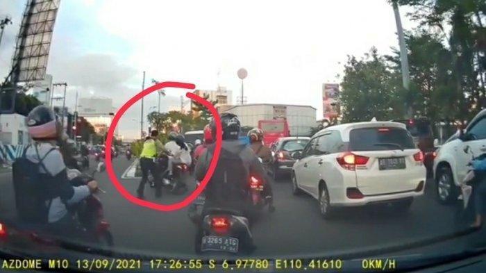 Fakta Viral Polantas Dorong Pengendara hingga Jatuh di Semarang, Polisi Dihukum Pemotor Ditilang