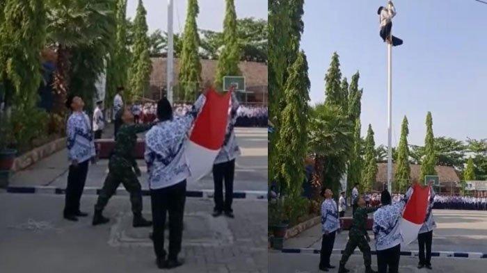 Sosok Siswa di Bojonegoro yang Viral Panjat Tiang Bendera saat Upacara Hari Guru: Saya Cinta Negara