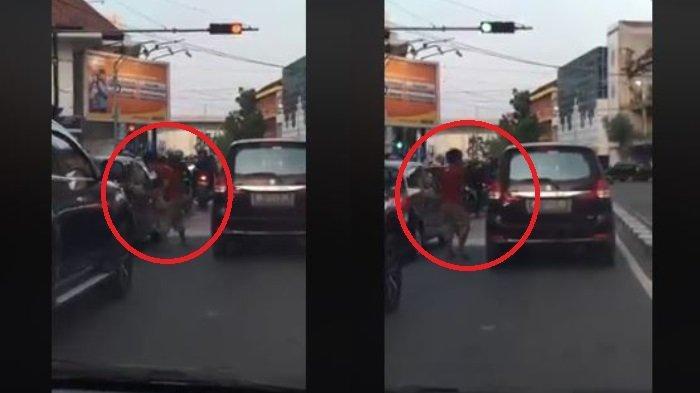 Viral Aksi Premanisme di Medan, Gunakan Batu Berukuran Sedang untuk Ancam Pengendara di Lampu Merah