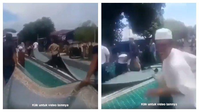 Kronologi Warga Maluku Utara Ngamuk dan Seret Karpet Masjid di Jalanan, Ternyata Ini Pemicunya