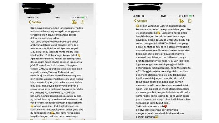 Viral tiga remaja cancel orderan ojol karena driver kurang tampan.