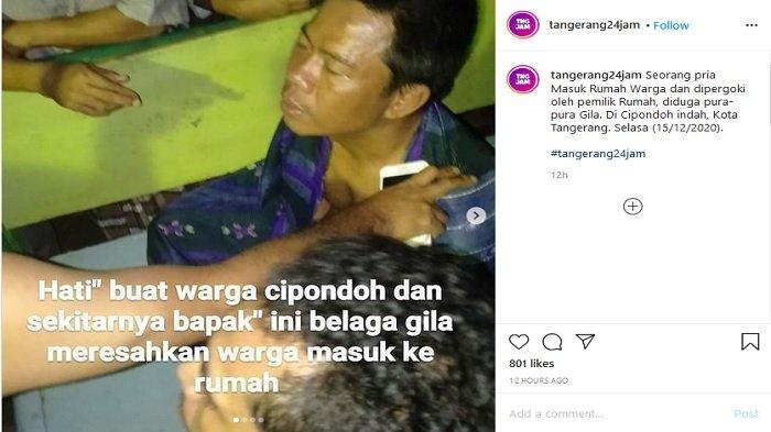 Viral Video Pria Tak Dikenal Nyelonong Masuk Rumah Warga Tanpa Busana, Ada yang Sebut Pura-pura Gila