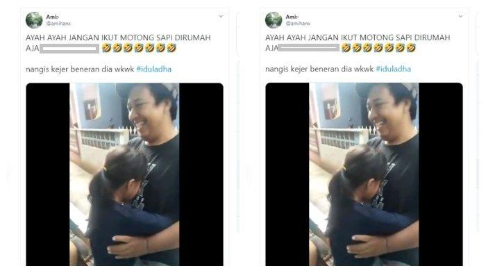 Viral dan Trending 1 Twitter, Tak Izinkan Ayah Potong Sapi Idul Adha, Alasan Gadis Ini Buat Tertawa