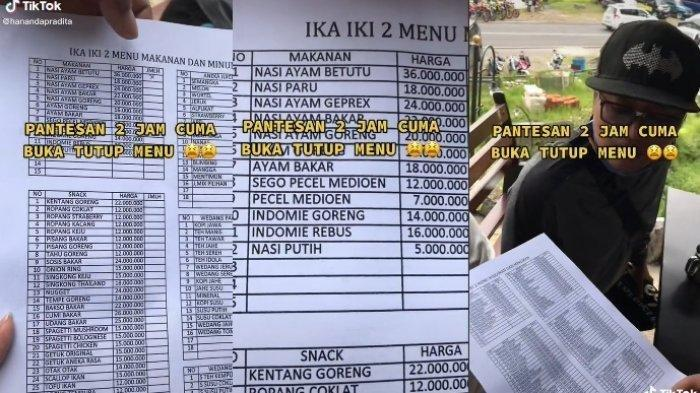 Viral kafe dengan menu makanan mahal, nasi putih dibanderol Rp 5 juta, ini kisahnya.