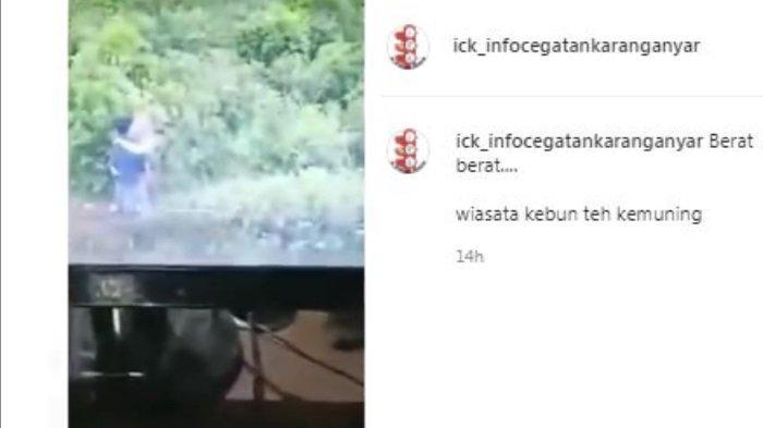 Viral kamera CCTV menangkap sepasang kekasih mesum di tempat wisata kebun teh Kemuning Karanganyar, Jawa Tengah.