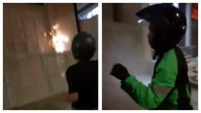 Viral di IG Video Aksi Driver Ojol Padamkan Api yang Mulai Lahap Rumah, Warga Malah Asyik Rekam