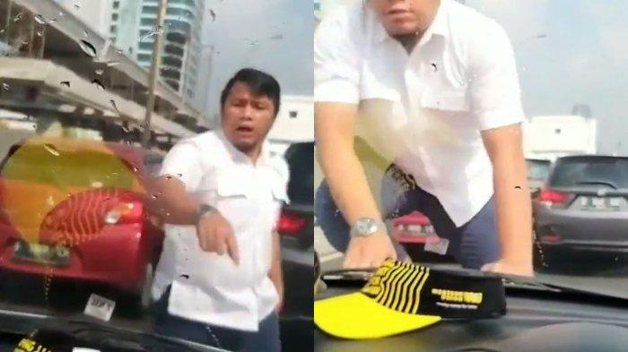 Kini Ditangkap Polisi, Ini Sosok Pengemudi Fortuner Arogan yang Siram Air dan Injak Kap Mobil di Tol