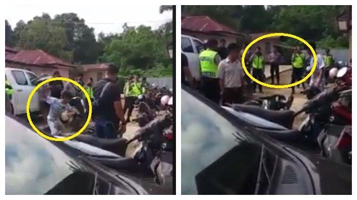Lagi, Viral Video Aksi Pria Banting dan Bongkar Motor, Puluhan Polisi Tonton dan Rekam Aksinya