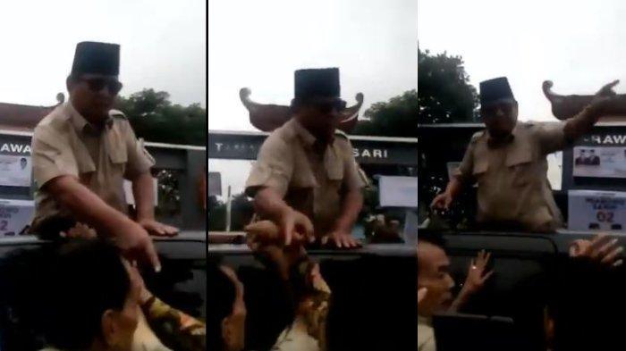 Viral Video Prabowo Marah-marah dan Tepuk Tangan Pria yang Pegangi Mobilnya, BPN Beri Penjelasan