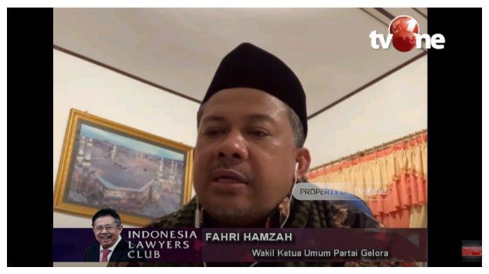 Fahri Hamzah di ILC: Kabinet Jokowi Ini Dibentuk Bukan untuk Hadapi Krisis, tapi untuk Pesta