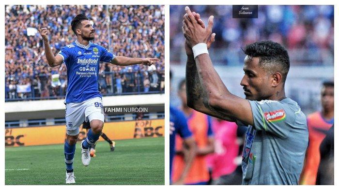 Jonatahan Bauman (kiri) pada postingan Instagram @jonibauman pada 5 Agustus 2018 dan Wander Luiz (kanan) pada postingan Instagram @wanderluiiz_ pada 15 April 2020. Bomber Persib Bandung asal benua Amerika.