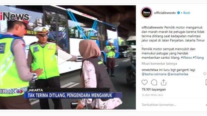 Viral Video Wanita Mengamuk karena Tak Terima Ditilang, Sempat Pukul dan Cubit Polisi