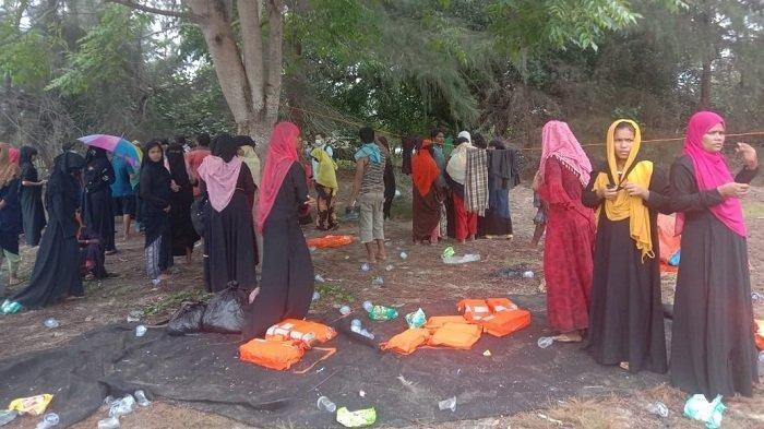 Potret 81 Warga Rohingya Terdampar di Aceh Timur, 5 di Antaranya dalam Keadaan Sakit, Ini Faktanya
