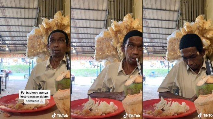 Viral warganet ajak makan pria tunawicara, diduga sudah menahan lapar seharian