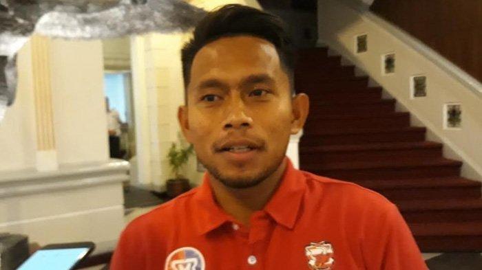Winger lincah Madura United, Andik Vermansyah saat ditemui TribunJakarta di hotel tempat menginap tim Madura United di Hotel The Rich, Sleman, Selasa (5/3/2019).