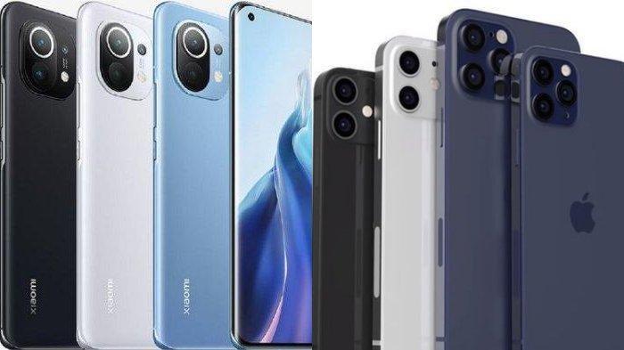 Beda Spesifikasi dan Harga Xiaomi Mi 11 Vs iPhone 12, Terpaut Rp 7 Jutaan