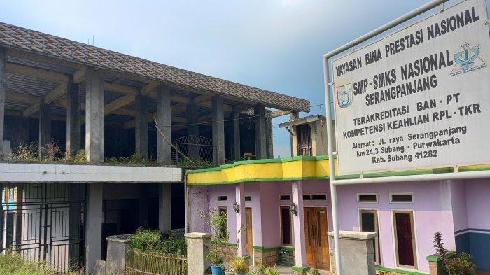 Sekolah Yayasan Bina Prestasi Nasional milik Yosef yang berada di Desa Cijengkol, Kecamatan Serangpanjang, Kabupaten Subang, Jawa Barat, Kamis (14/10/2021).