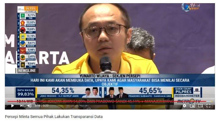 Direktur Lembaga Survei Charta Politika Yunarto Wijaya