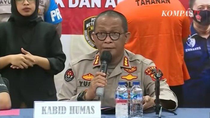 Kabid Humas Polda Metro Jaya Kombes Pol Yusri Yunus menjelaskan kronologi kejadian penembakan oleh oknum polisi Bripka CS di kafe di Cengkareng, Kamis (25/2/2021).