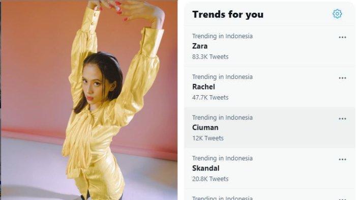 Zara Adhisty dam nama Zara menjadi trending di Twitter.
